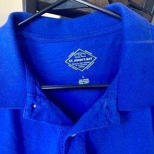 St. John's Bay Shirts - Mens Cobalt Blue St Johns Bay Polo